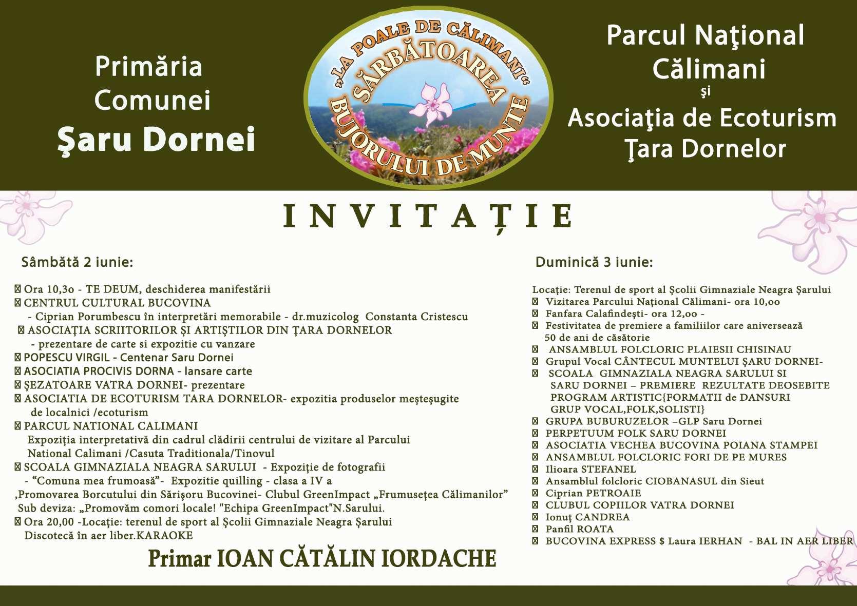 Invitatie bujorul de munte 2018_